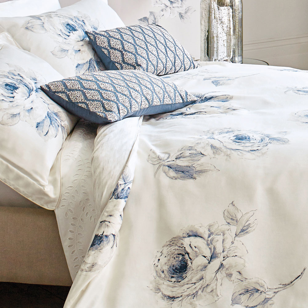Indigo Bed Linen Part - 49: Sanderson Rosa Quilt Cover