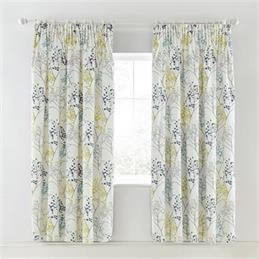 Sanderson Home Teal Pippin Lined Curtains