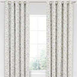 Sanderson Home Damson Tree Lined Curtains