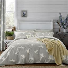 Sanderson Home Mineral Paper Doves Quilt Cover