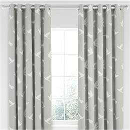 Sanderson Home Paper Doves Mineral Lined Curtains