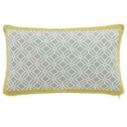 Sanderson Home Ochre Wisteria Blossom Knitted Cushion