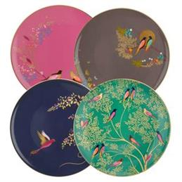 Sara Miller For Portmeirion Chelsea Collection Cake Plates: Set Of 4