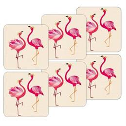 Sara Miller For Portmeirion Flamingo Coasters: Set Of 6