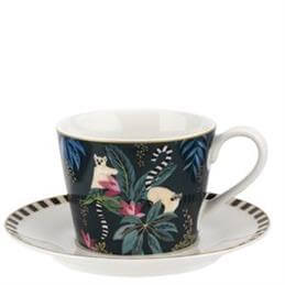 Sara Miller London Lemur Tahiti Teacup & Saucer
