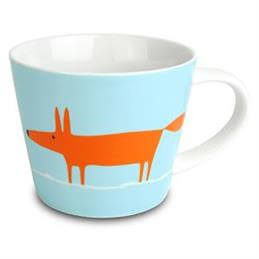 Scion Mr Fox Large Mug: Duck Egg & Orange