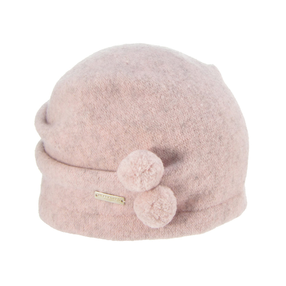 8e6b200564b Seeberger Boiled Wool Cap with Pom Poms