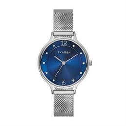 Skagen Anita Blue Dial Steel Mesh Watch