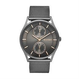 Skagen Holst Grey Steel Mesh Multifunction Watch