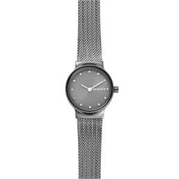 Skagen Freja Dark Grey Steel Mesh Watch