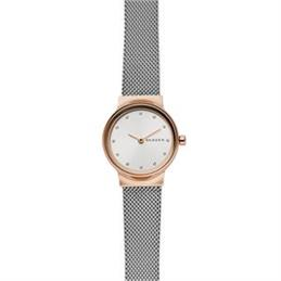 Skagen Freja Two Tone Rose Gold Steel Mesh Watch
