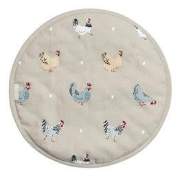 Sophie Allport Circular Hob Cover- Lay a Little Egg