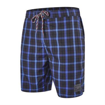 a2976b4461 ... Speedo Men's Check Leisure 18inch Swim Shorts- Grey Blue