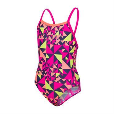 091c071319 Speedo Junior Girls Fluotime Allover Thinstrap Crossback Swimsuit