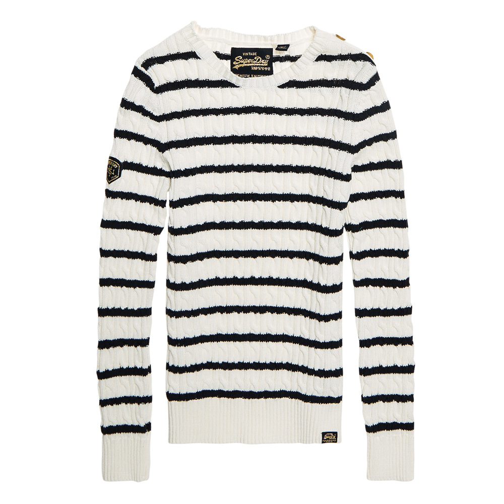 Superdry Croyde Bay Cable Knit Jumper  772cc40fd