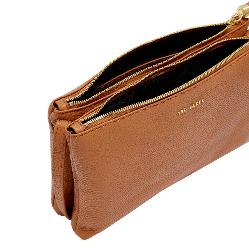7a0618f27 Ted Baker Maceyy Tassel Leather Double Zip Cross Body Bag