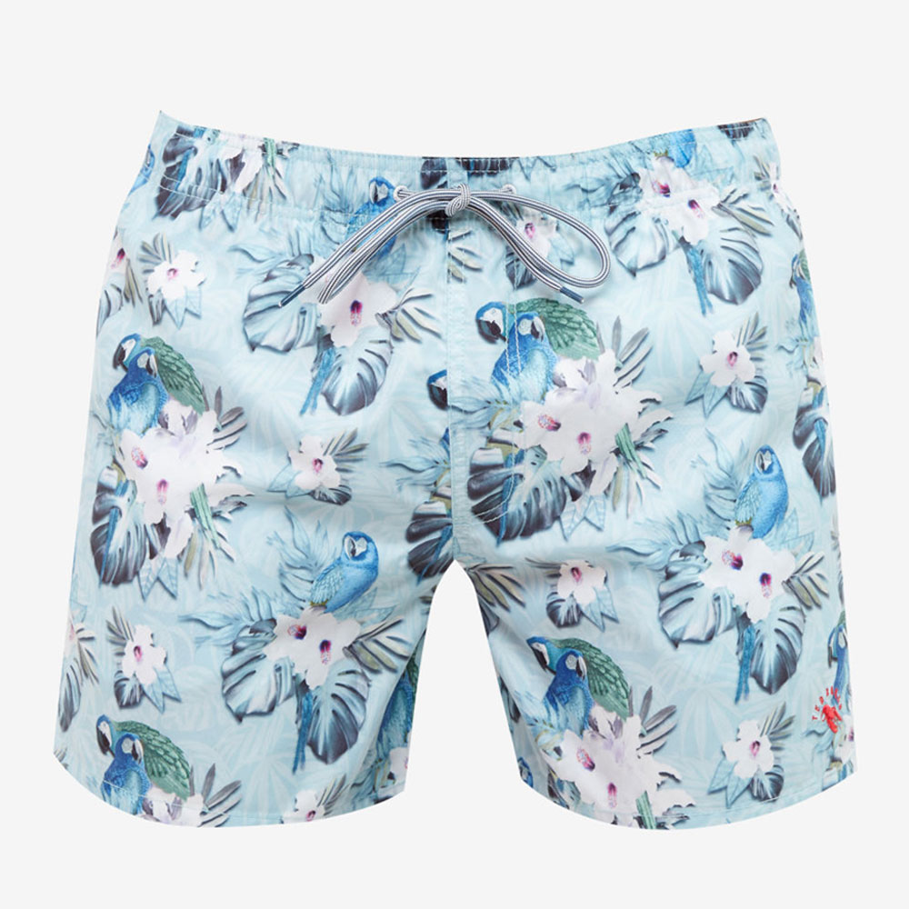 1bfcaed5df4736 Ted Baker Highams Floral   Parrot Pattern Swim Shorts