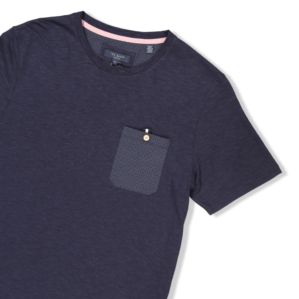 633b005d Ted Baker Men's Web Pocket Detail Slub T-Shirt | Polos & T-Shirts ...