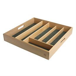 T&G Beech Wood Cutlery Drawer Tray: 38cm