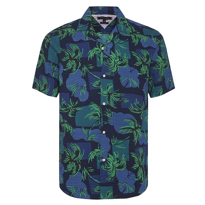 Tommy Hilfiger Tropical Palm Short Sleeve Shirt