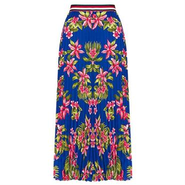 e58c258b ... Tommy Hilfiger Erica Tropical Pleated Midi Skirt