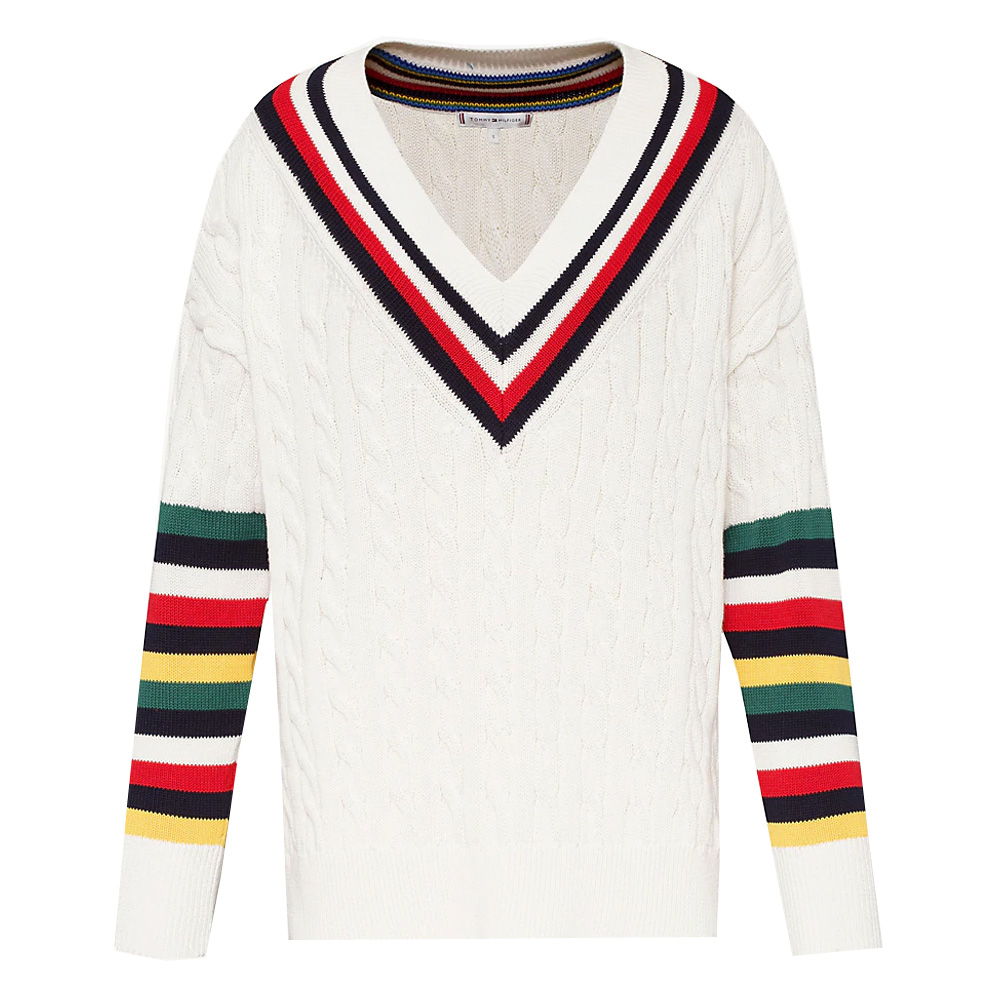 5d178a87bfe Tommy Hilfiger Cable Knit Cricket Jumper