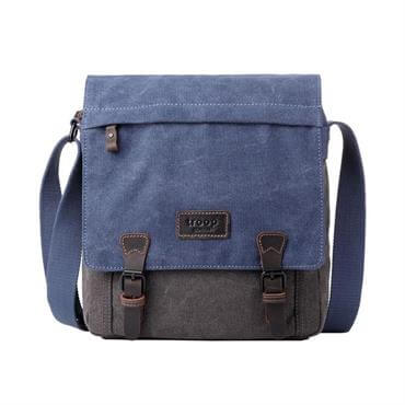 ... Troop London Heritage Classic Canvas Tall Messenger Bag - Blue 169901fc9cd2d
