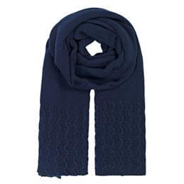 Unmade Copenhagen Light Cable Navy Scarf