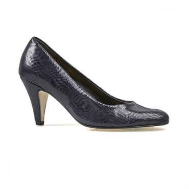 c42f3ae0 ... Van Dal Women's Holt Midnight Reptile Print Court Shoe
