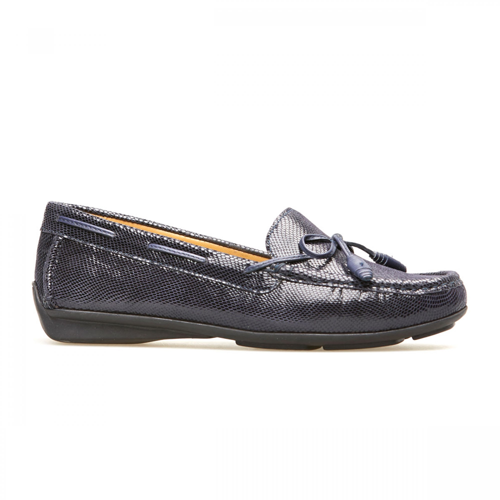 f3f3c60c7418 Van Dal Women s Lawrence Midnight Reptile Print Loafers