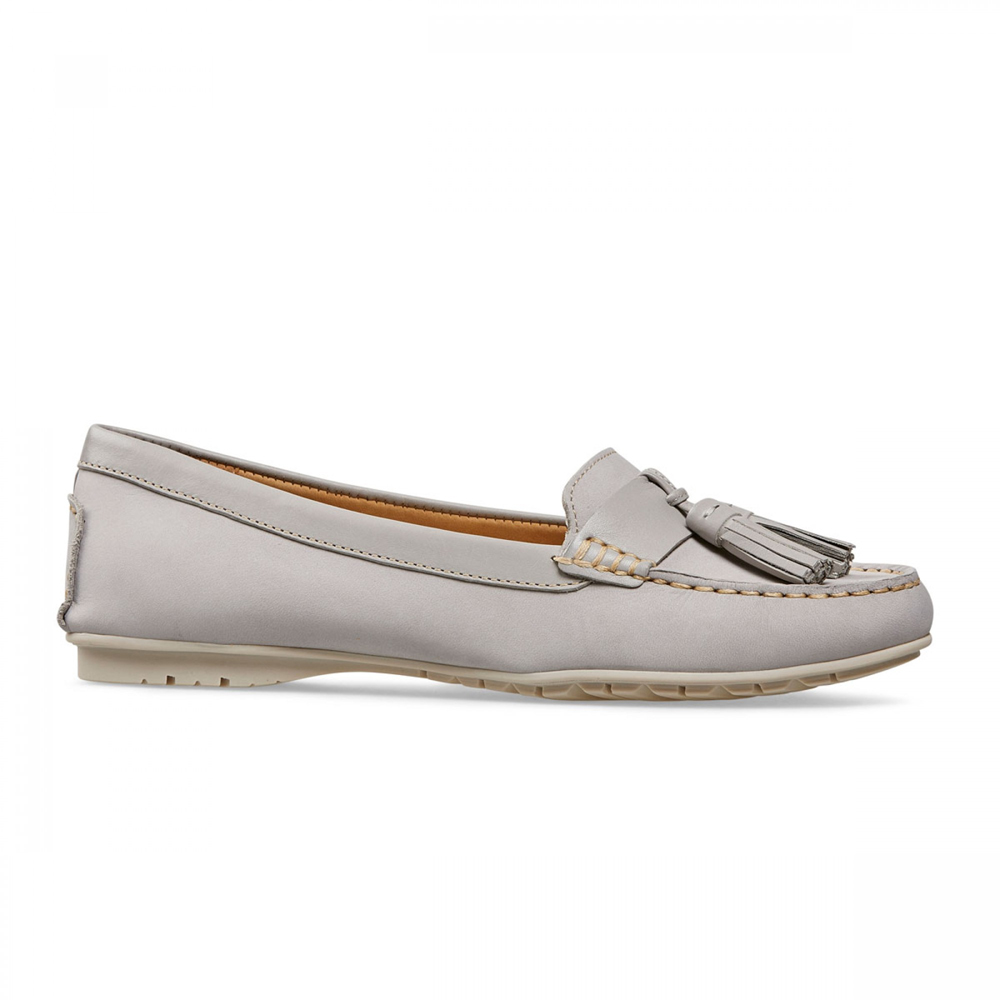 5cf2314ebda3 Van Dal Kerby Women s Wood Ash Grey Nubuck Loafers