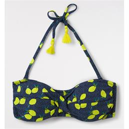 White Stuff Lemon Spot Bandeau Bikini Top