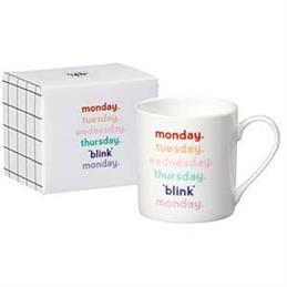 Yes Studio China Mug: 'Blink Monday'