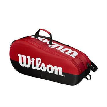 6b19c11bd9 ... Wilson Team 2 Compartment Tennis Bag - Red Black