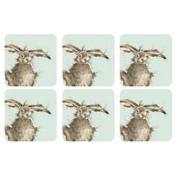 Wrendale Hare-Brained Coaster Set