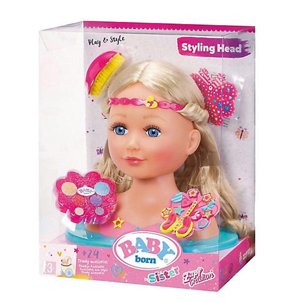 Zapf Creation Baby Born Sister Styling Head Jarrold Norwich