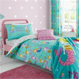 Catherine Lansfield for Kids Mermaids Duvet Cover Set