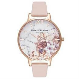 Olivia Burton Marble Nude Peach & Rose Gold Watch